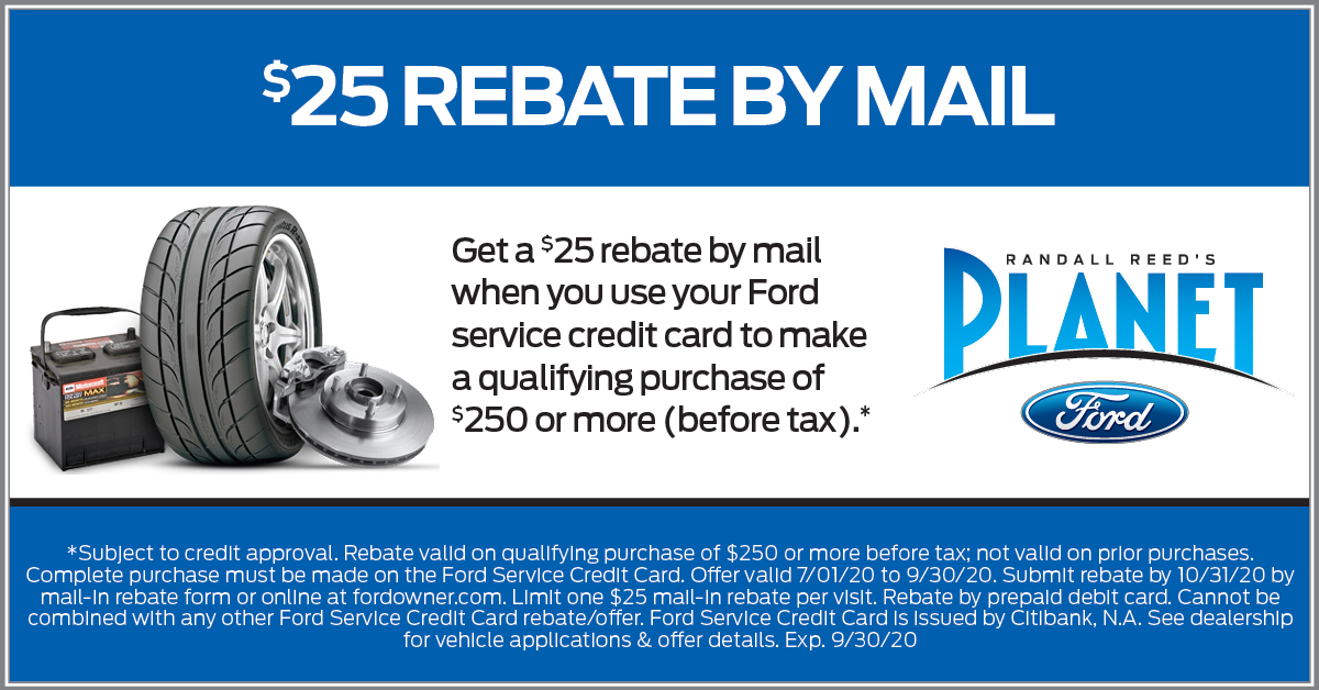 Rebate Savings Ford Service Coupon