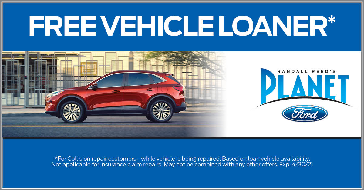 Free Vehicle Loaner for Collision Repair