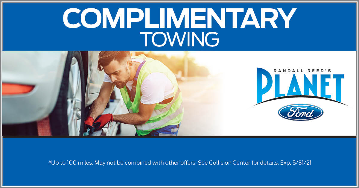 Planet Ford Complimentary Collision Repair Towing
