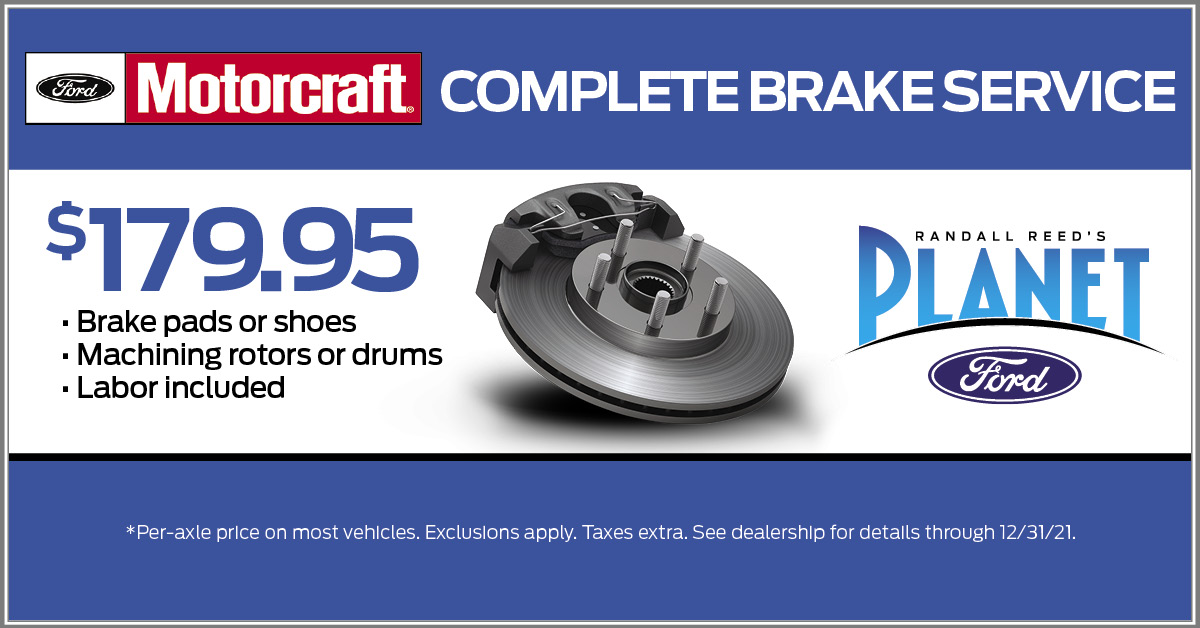 Planet Ford Brake Specials