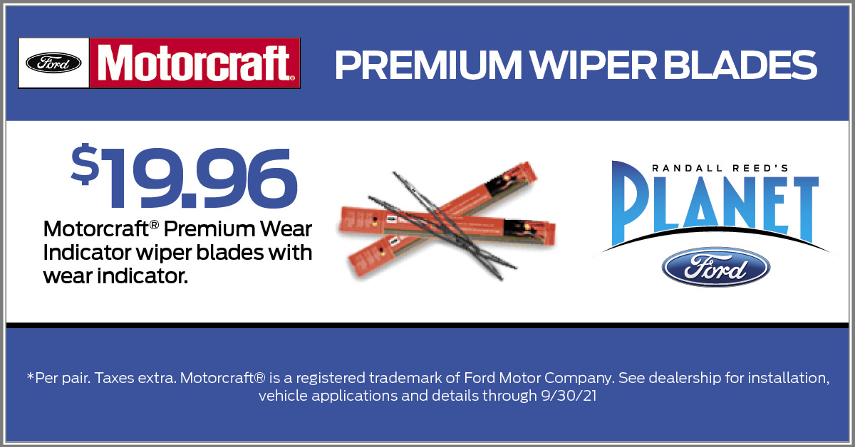 New Wiper Blades Motorcraft coupon deal