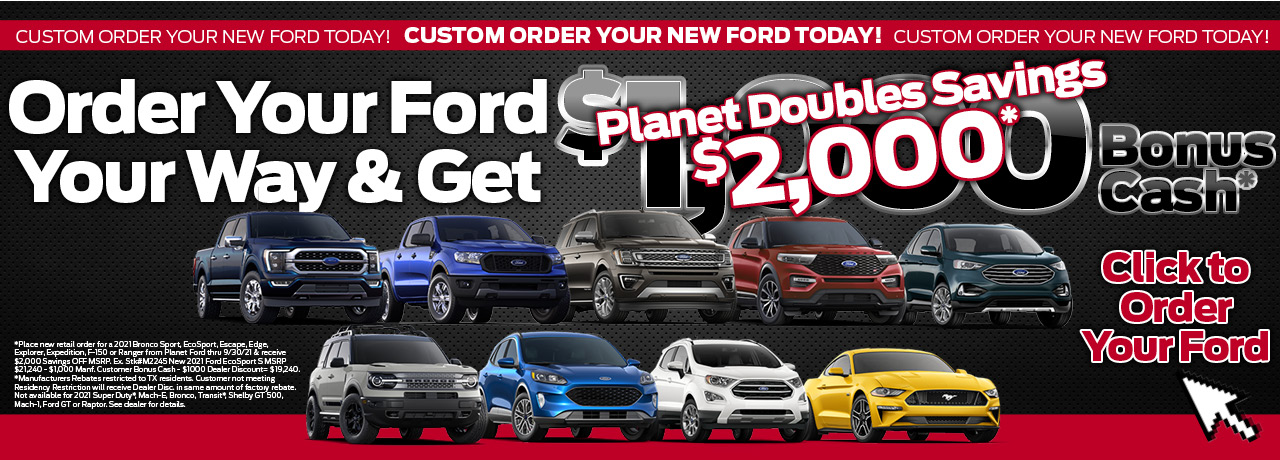 Ford customer order special save