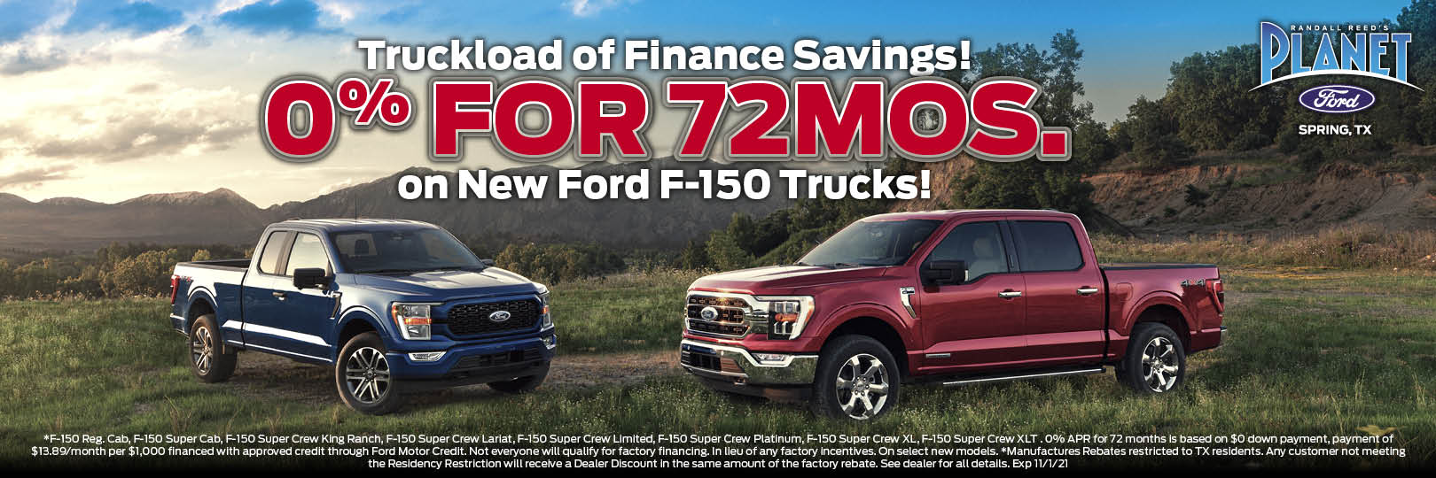 Ford F-150 finance special
